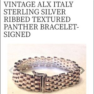 Vintage bracelet in sterling silver signed